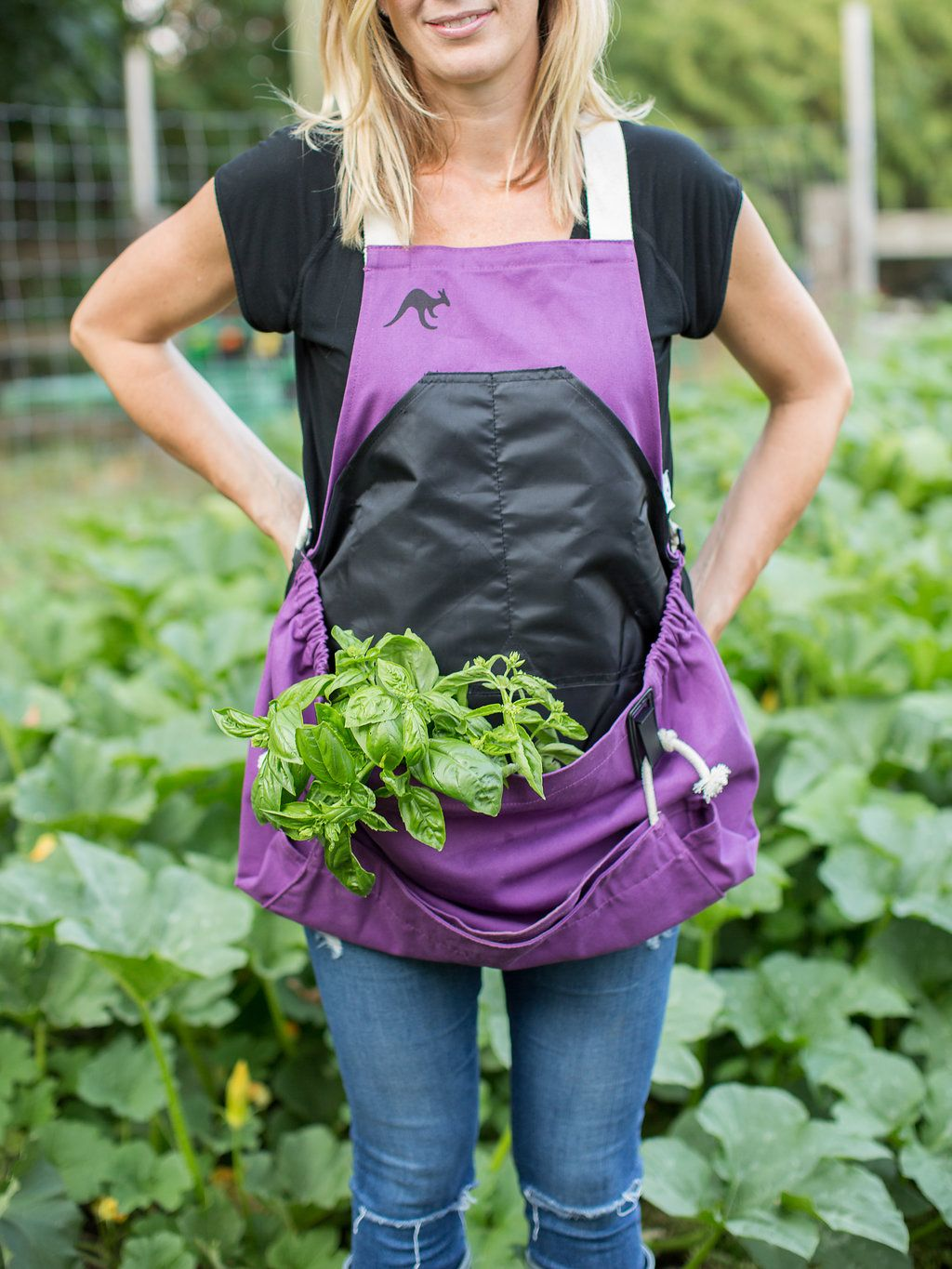 Purple Orchid Roo Gardening Apron Garden Tools Gifts For