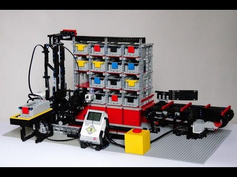Automated LEGO warehouse, AS-RS system, Mindstorms EV3 - YouTube ...