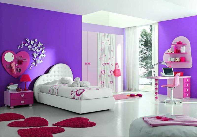 Stanzetta fucsia bianco e viola abitaciones hermosas for Decoracion habitacion nina de 8 anos