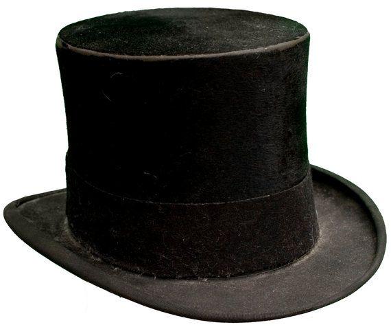 821314aa 1890s Medium Top Hat Beaver John B Stetson by TopangaHiddenT ...