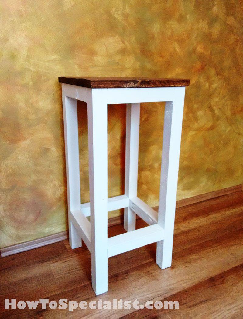 Diy bar plans howtospecialist how to build step by step diy plans - How To Build A Wood Bar Stool Howtospecialist How To Build Step By