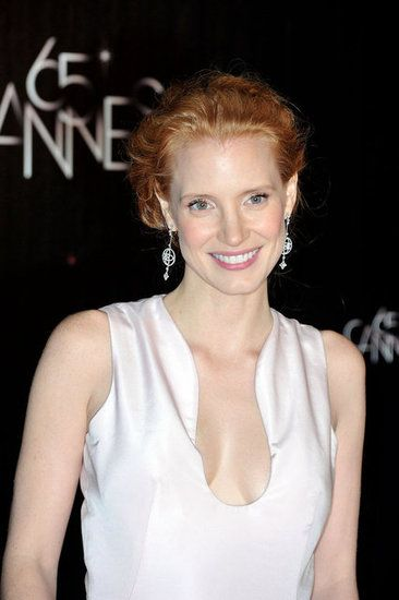 Jessica Chastain. makeup & gorgeous skin.