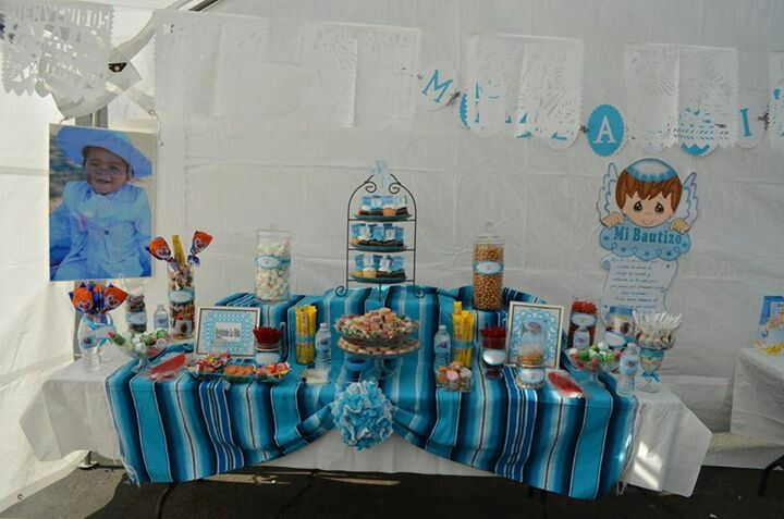 Mexican candy buffet for a baptism bautizo