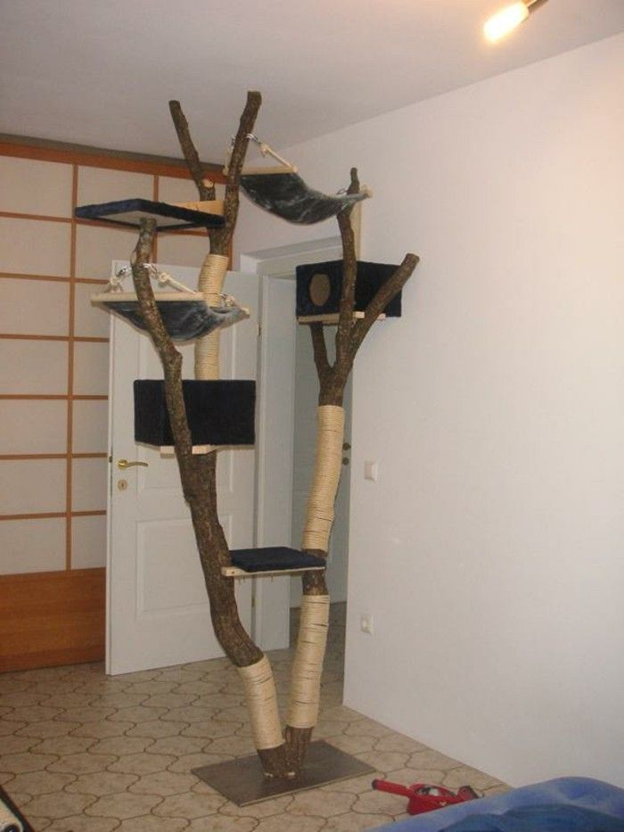 kratzbaum selber bauen kratzbaum f r gro e katzen diy. Black Bedroom Furniture Sets. Home Design Ideas