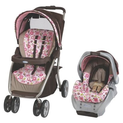 Carolina Pink Brown Graco Travel System Travel System Stroller