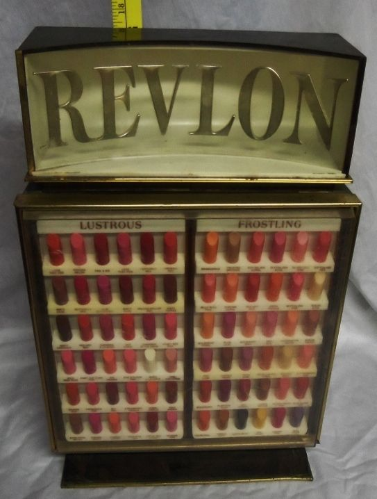 Vintage 60 S Revlon Lipstick Makeup Cosmetic Store Display