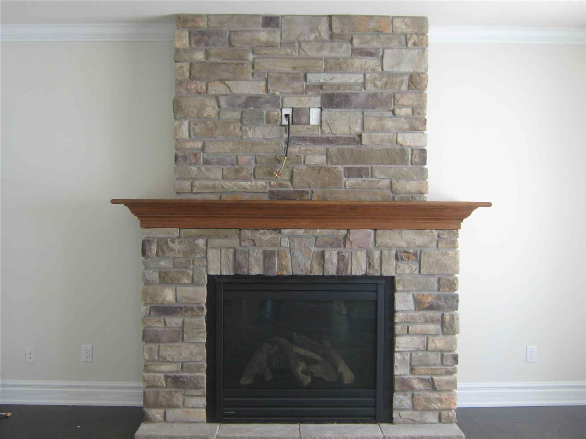 On Interior With Fresh Stacked Veneer Diy Fresh Faux Stone