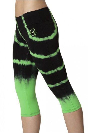 Green Tie Dye Capri