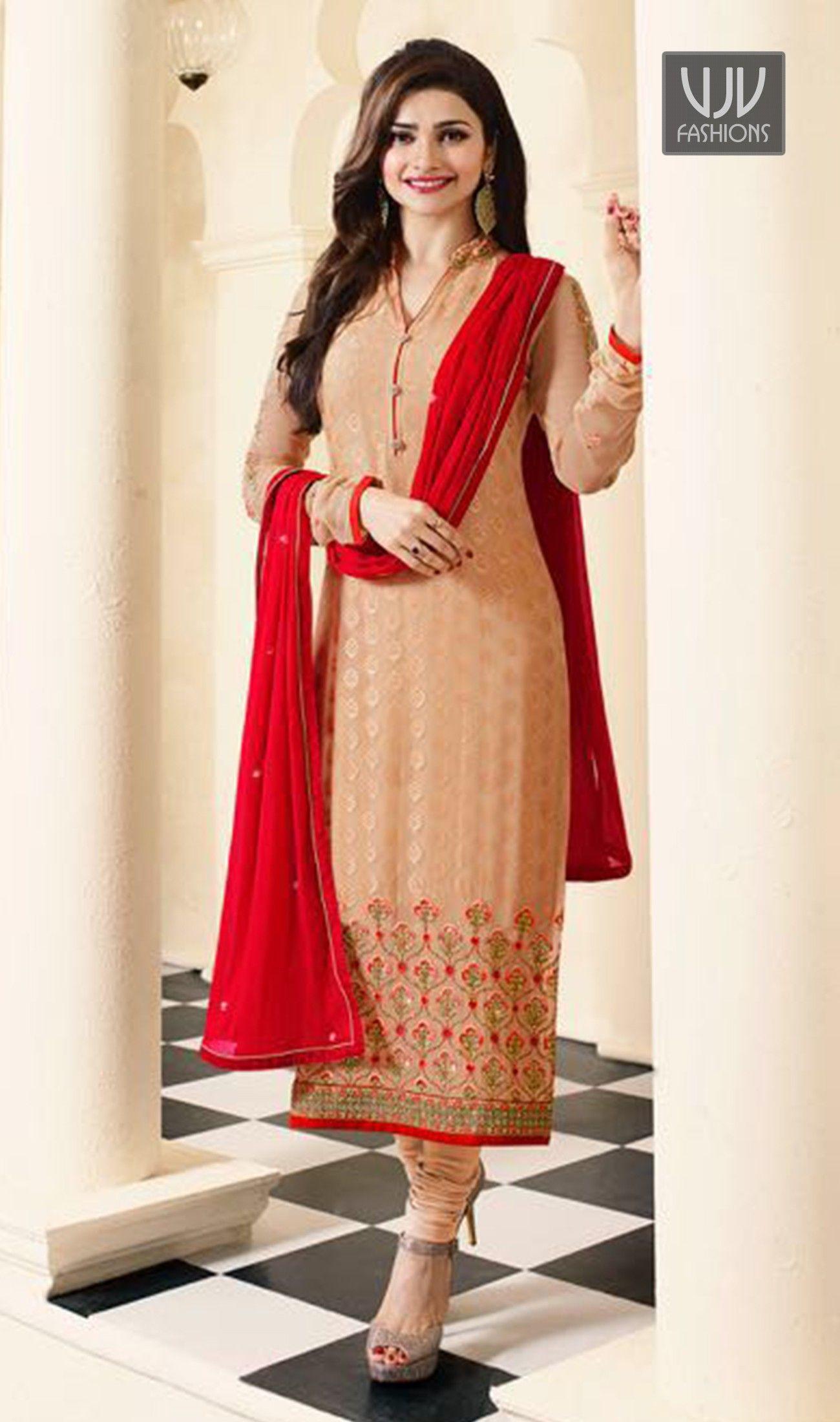 Designer salwar kameez mesmeric peach color net designer suit - Prachi Desai Peach Color Georgette Casual Suit Precise Elegance Can Come Out From Your Dressing Design Salwar Suitssalwar Kameezonlinecasual