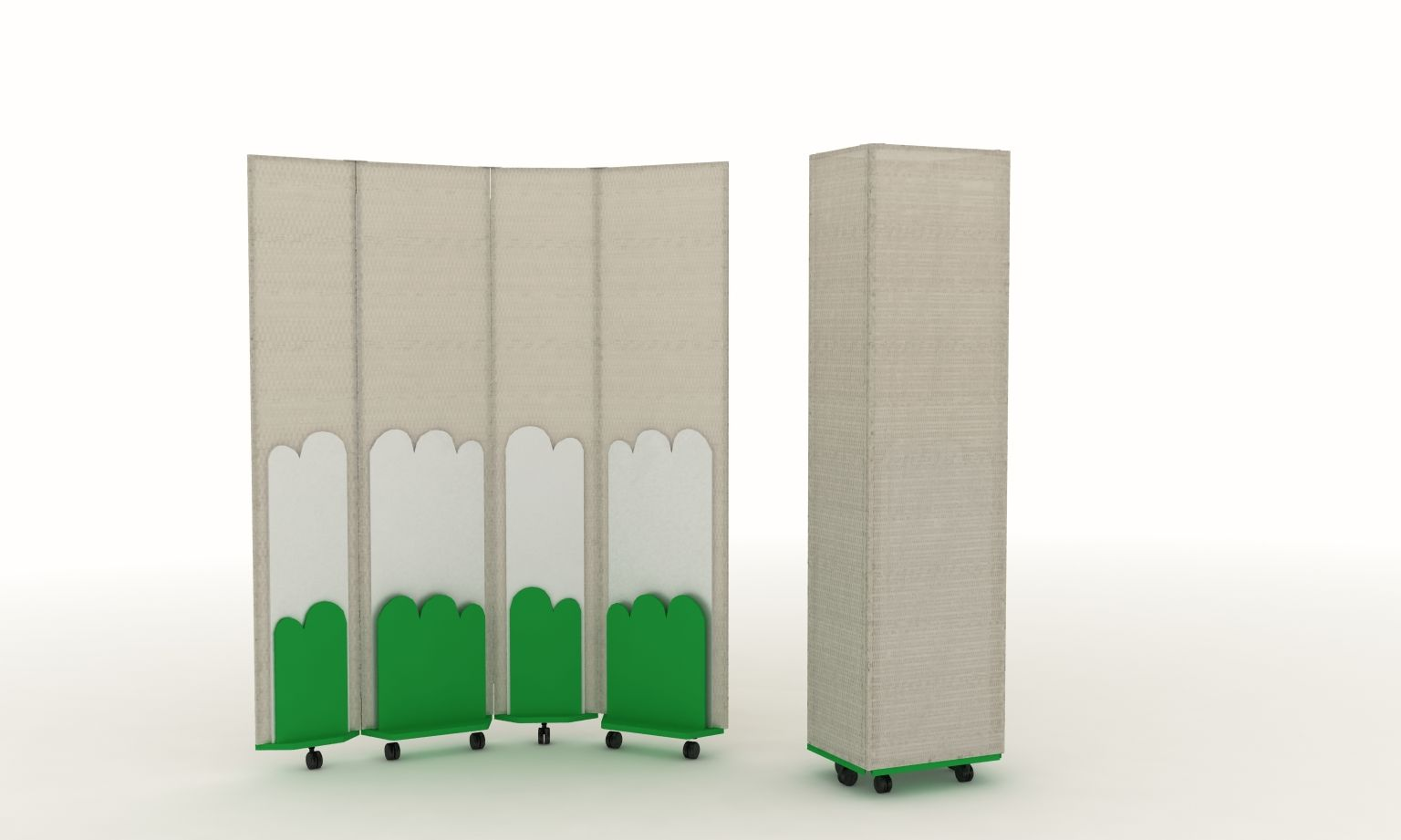 Enjambre - School Furniture Collection  Space divider + storage/exhibit  wall. Product design