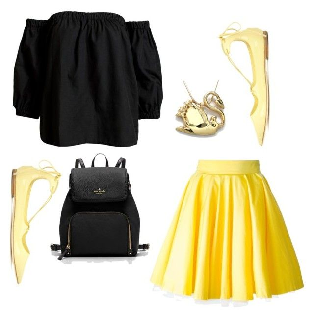 """""""All Yellow"""" by mali-likes ❤ liked on Polyvore featuring Sans Souci, Philipp Plein and Jimmy Choo"""