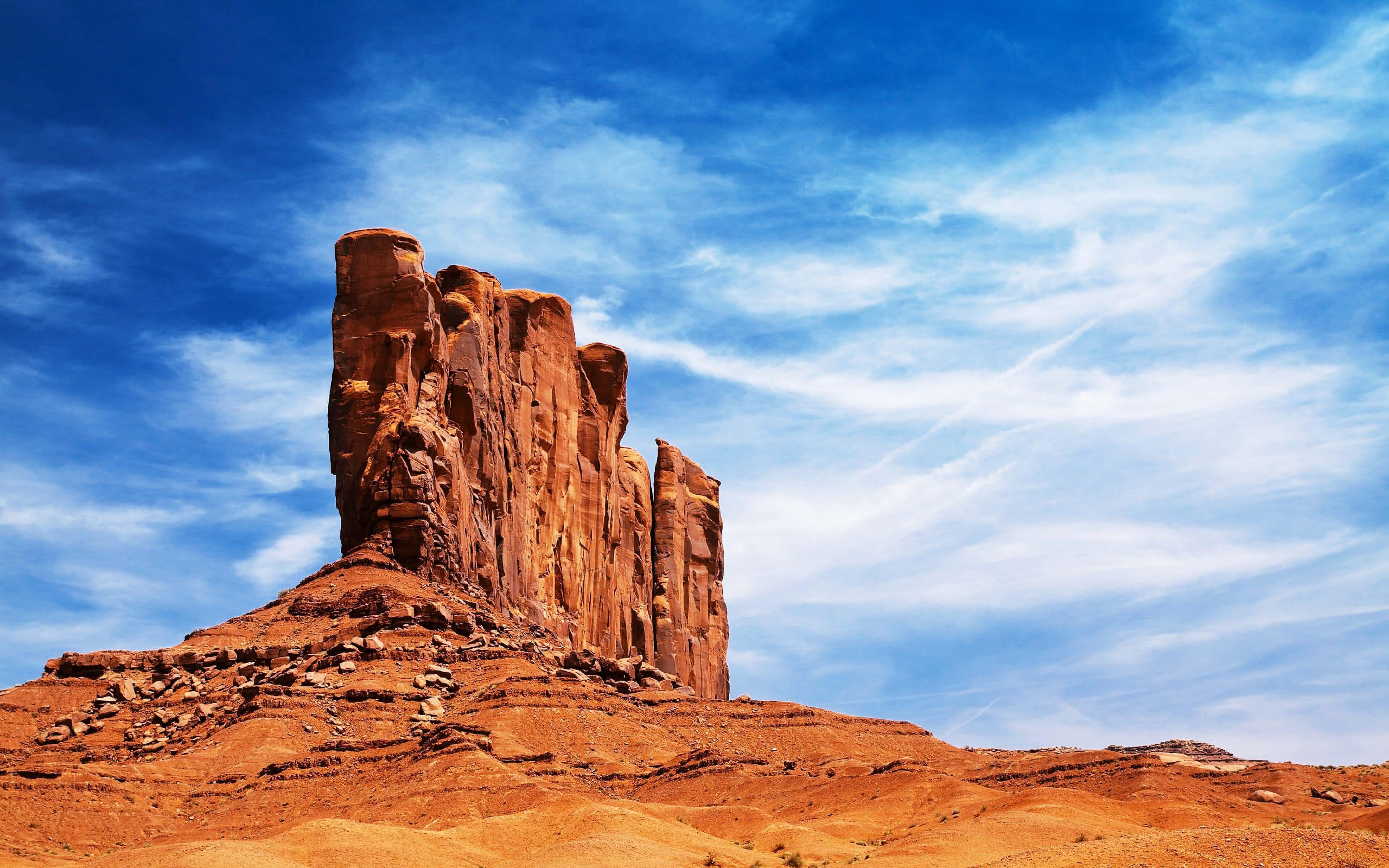 Desert Rocks Arizona United States 4k Wallpaper Monument