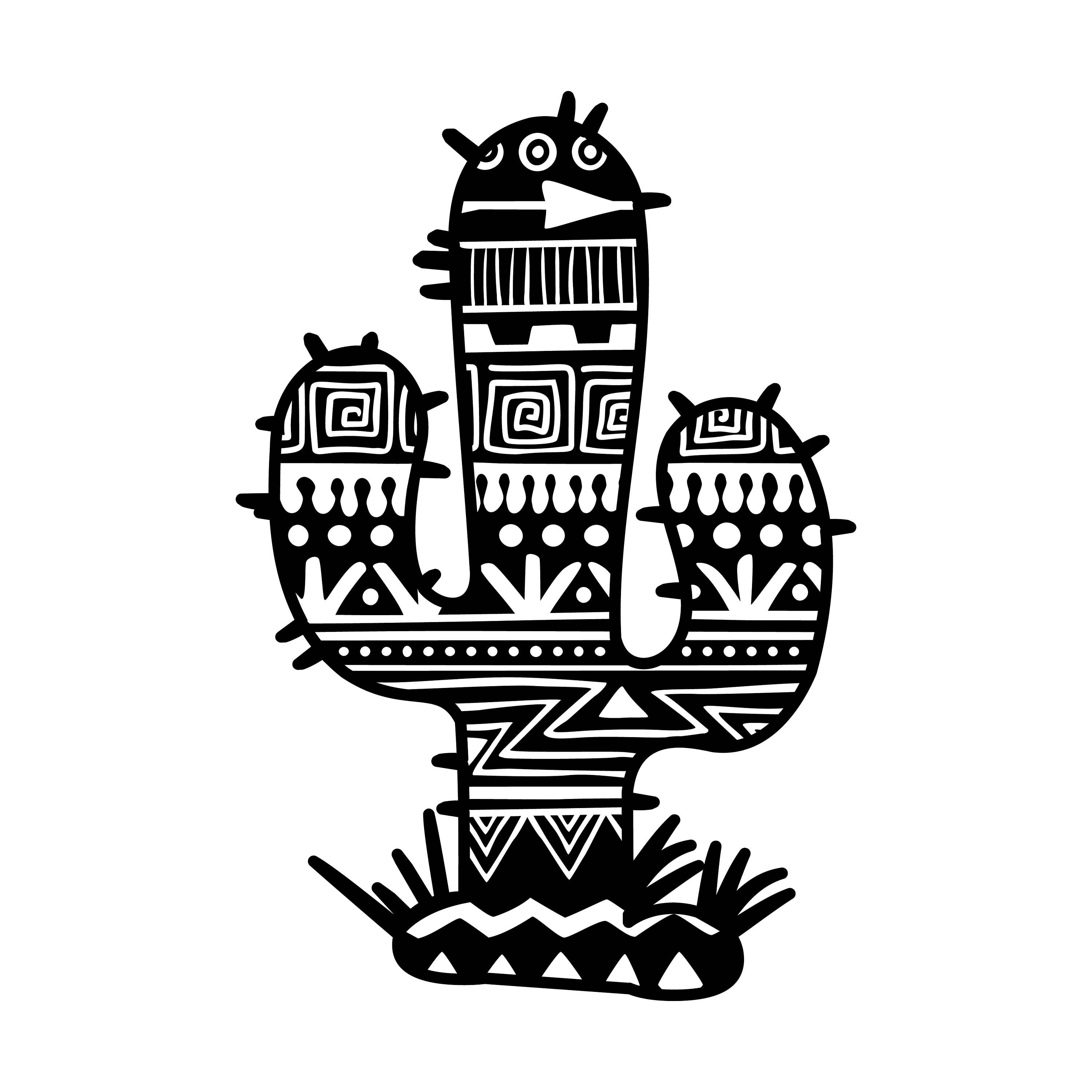 Aztec Cactus Decal By Cityvinyl On Etsy