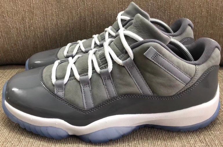 promo code 9b47e 3571a The Jordan 11 Low Cool Grey is now available. Who's Copping ...