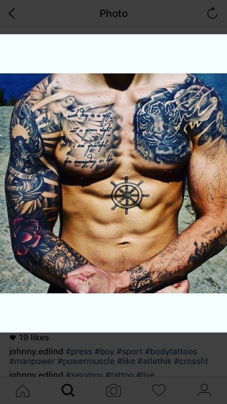 60 Badass Chest Tattoos For Men - Manly Ink Design Ideas