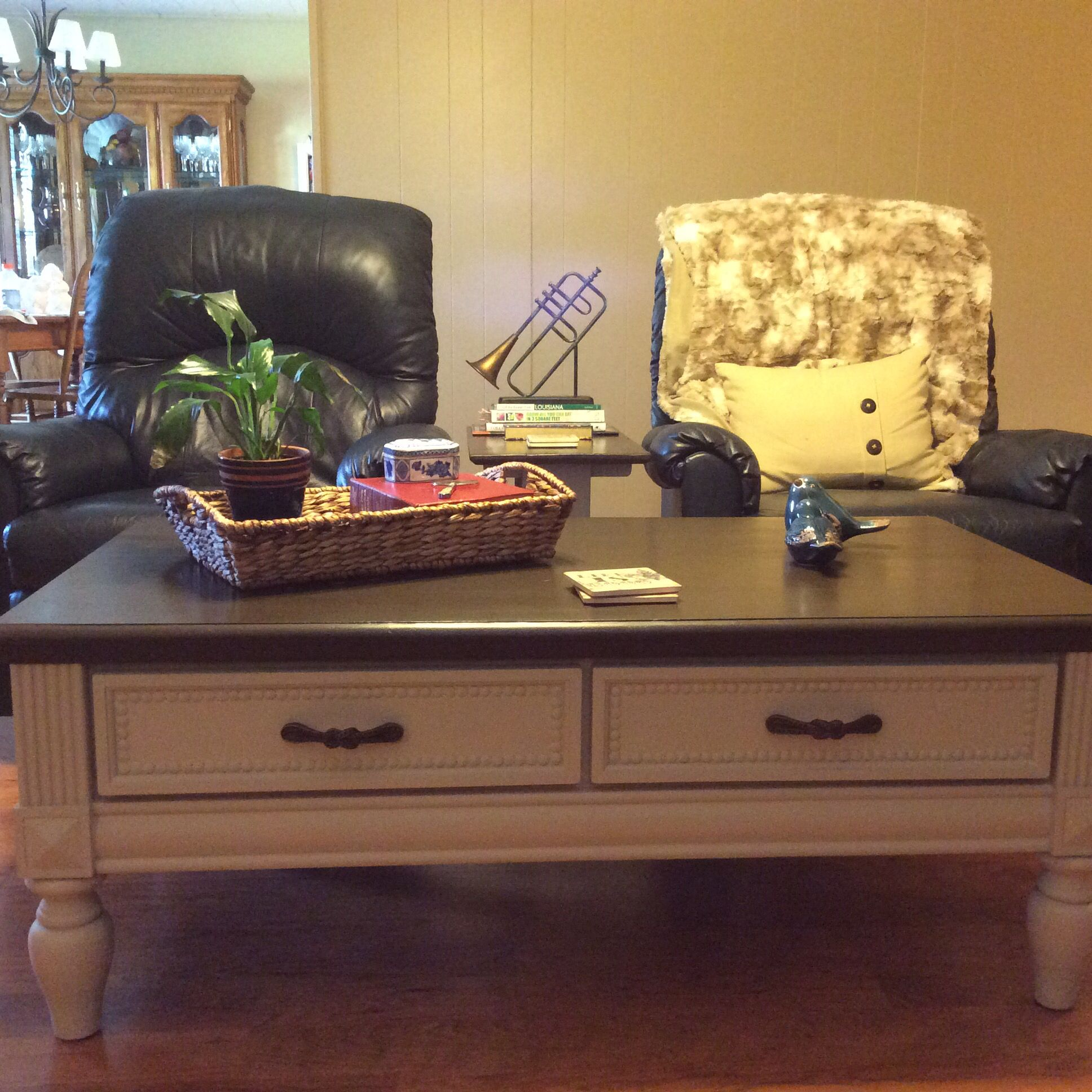 Finally had the nerve to chalk paint my coffee table maison finally had the nerve to chalk paint my coffee table maison blanche coffee bean on geotapseo Images