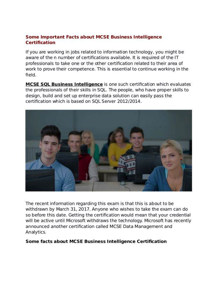 Microsoft Business Intelligence Certification Can Be Taken By Anyone