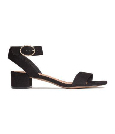 Sandaler med blokkhæl   Sort   Ladies   H&M NO