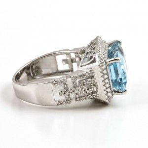 5.21ct Emerald Cut #Aquamarine #Ring