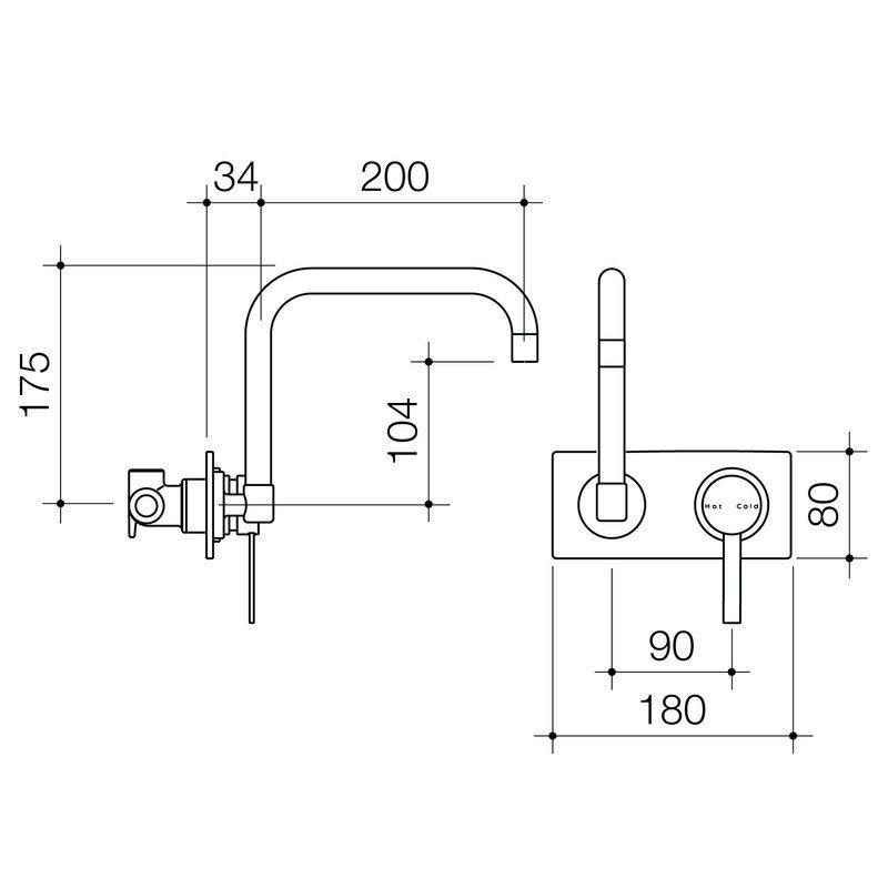 Mixer Taps Liano Liano Wall Sink Mixer Caroma Mixer Taps Sink