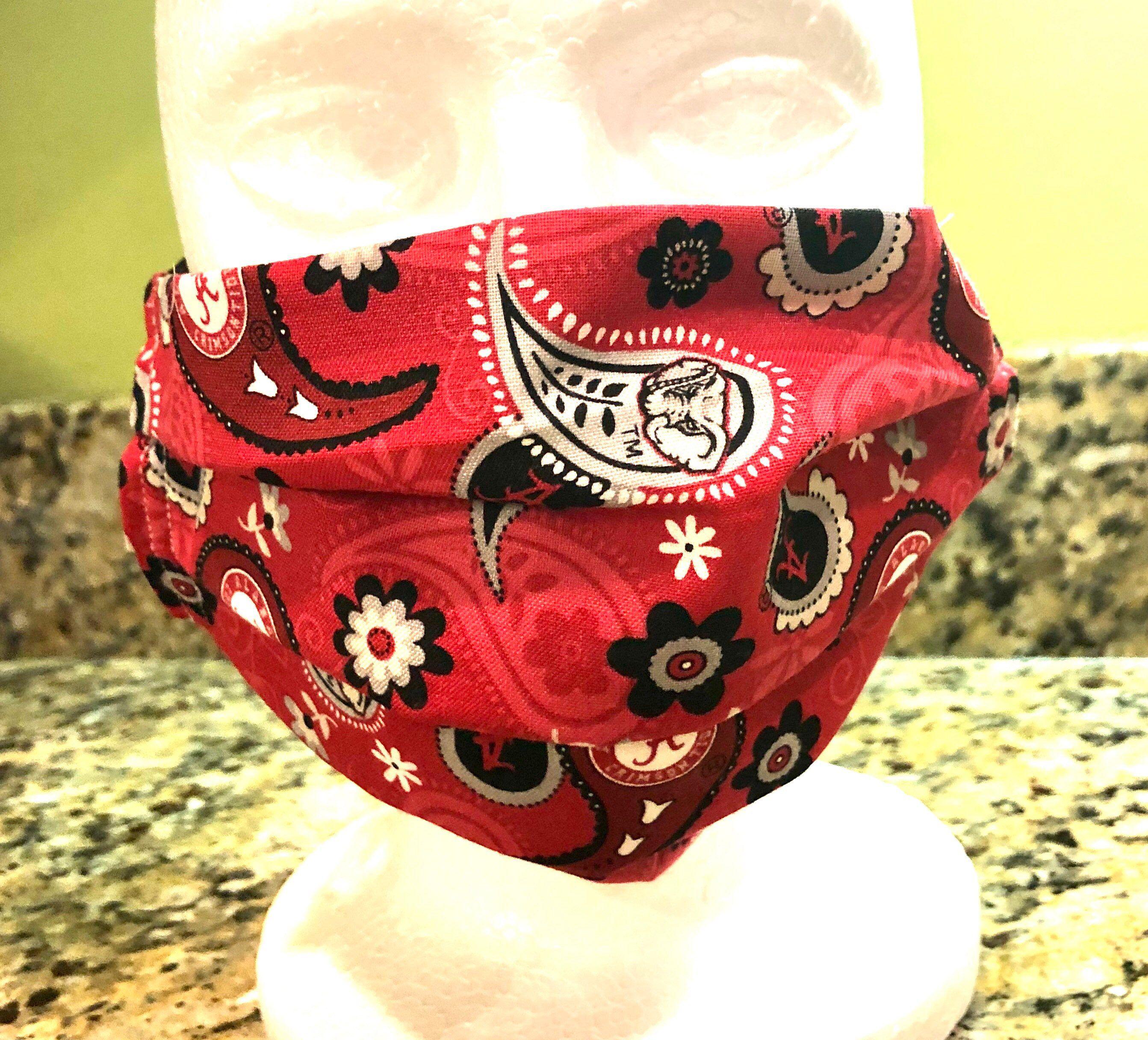 Alabama face mask washable Alabama Crimson Tide facemask ...