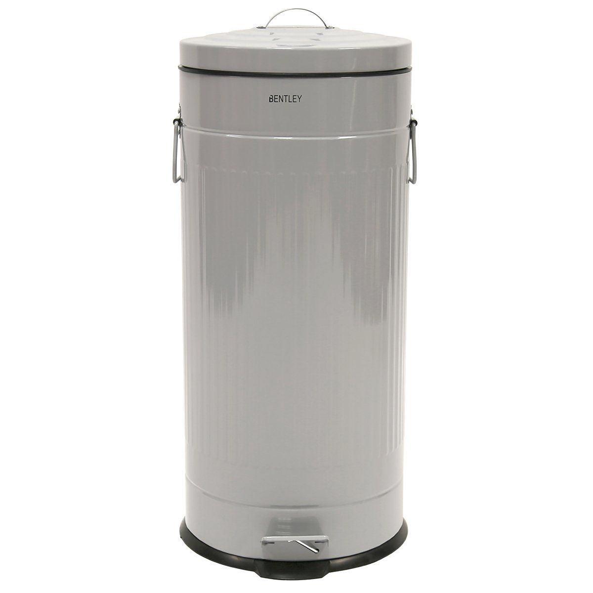 Charles Bentley Home 30l Retro Steel Waste Rubbish Kitchen Pedal Bin Grey More Colours Available Co Uk