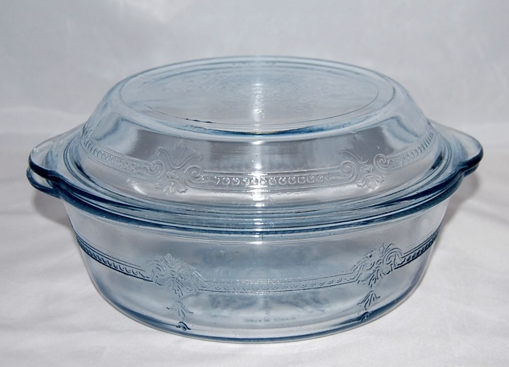 Blue Fire King Sapphire Blue Philbe Bakeware