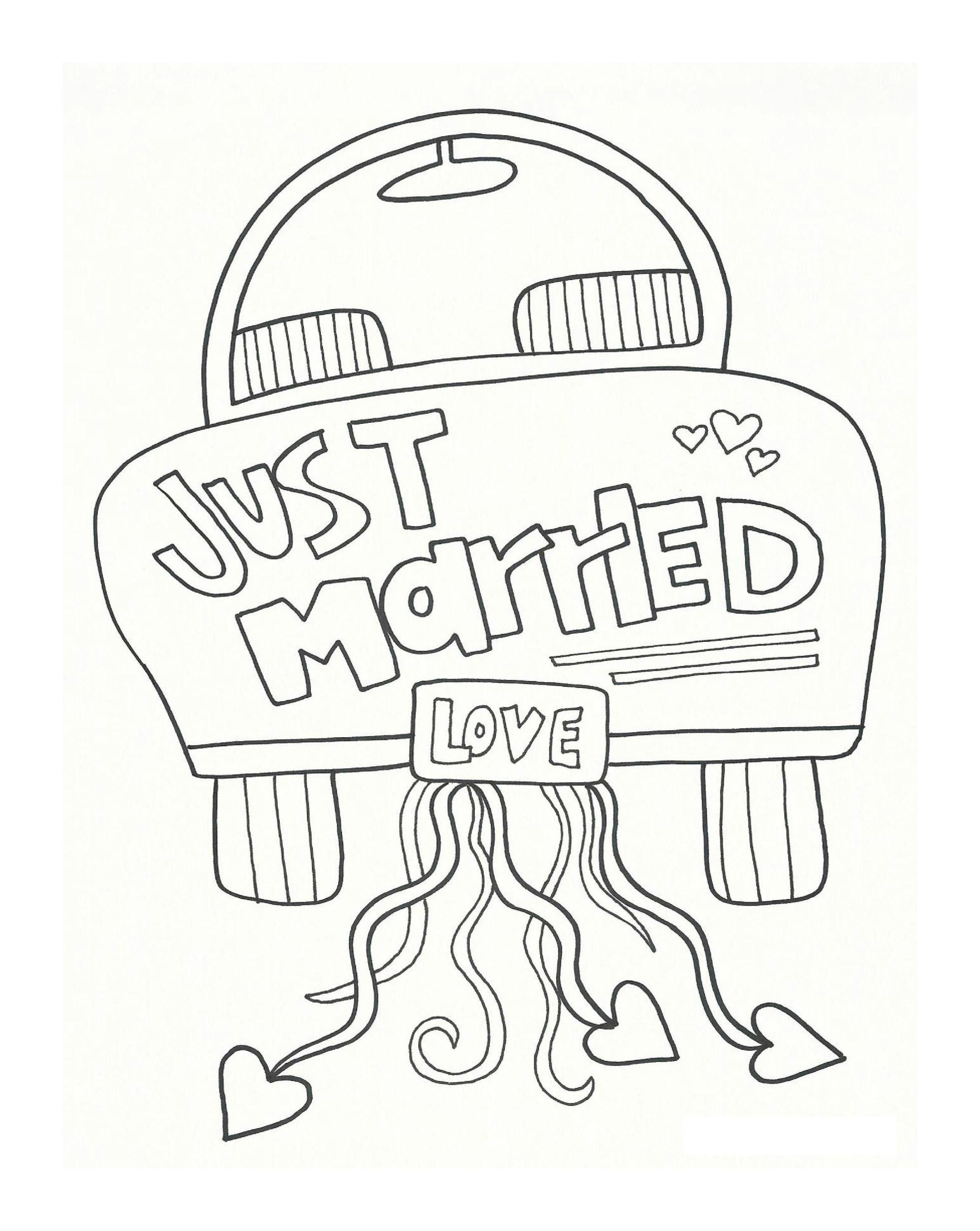 Printable Coloring Pages For Wedding In 2020 Wedding Coloring Pages Free Wedding Printables Kids Table Wedding