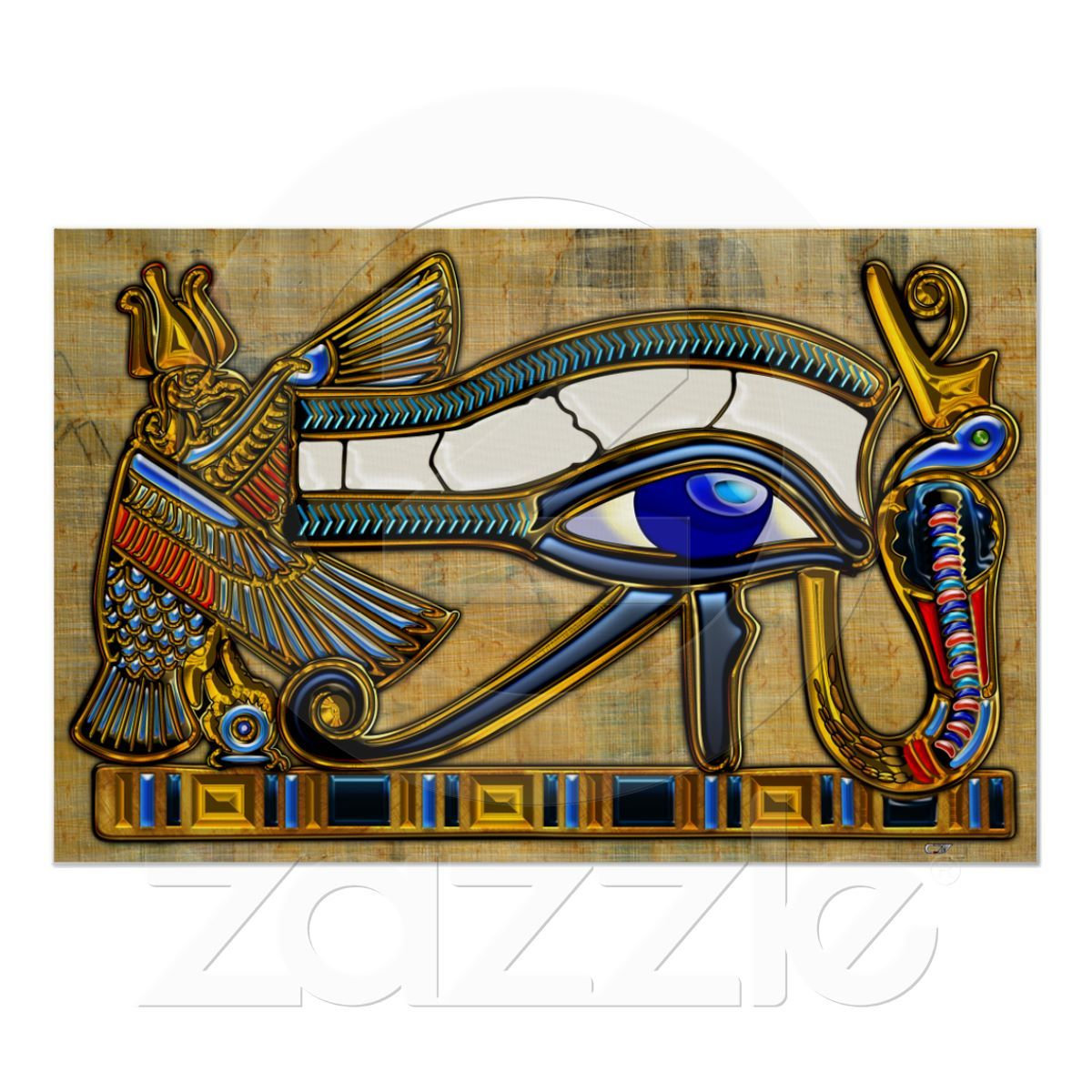 The Eye Of Horus Poster Egyptian Symbols Egyptian And Symbols