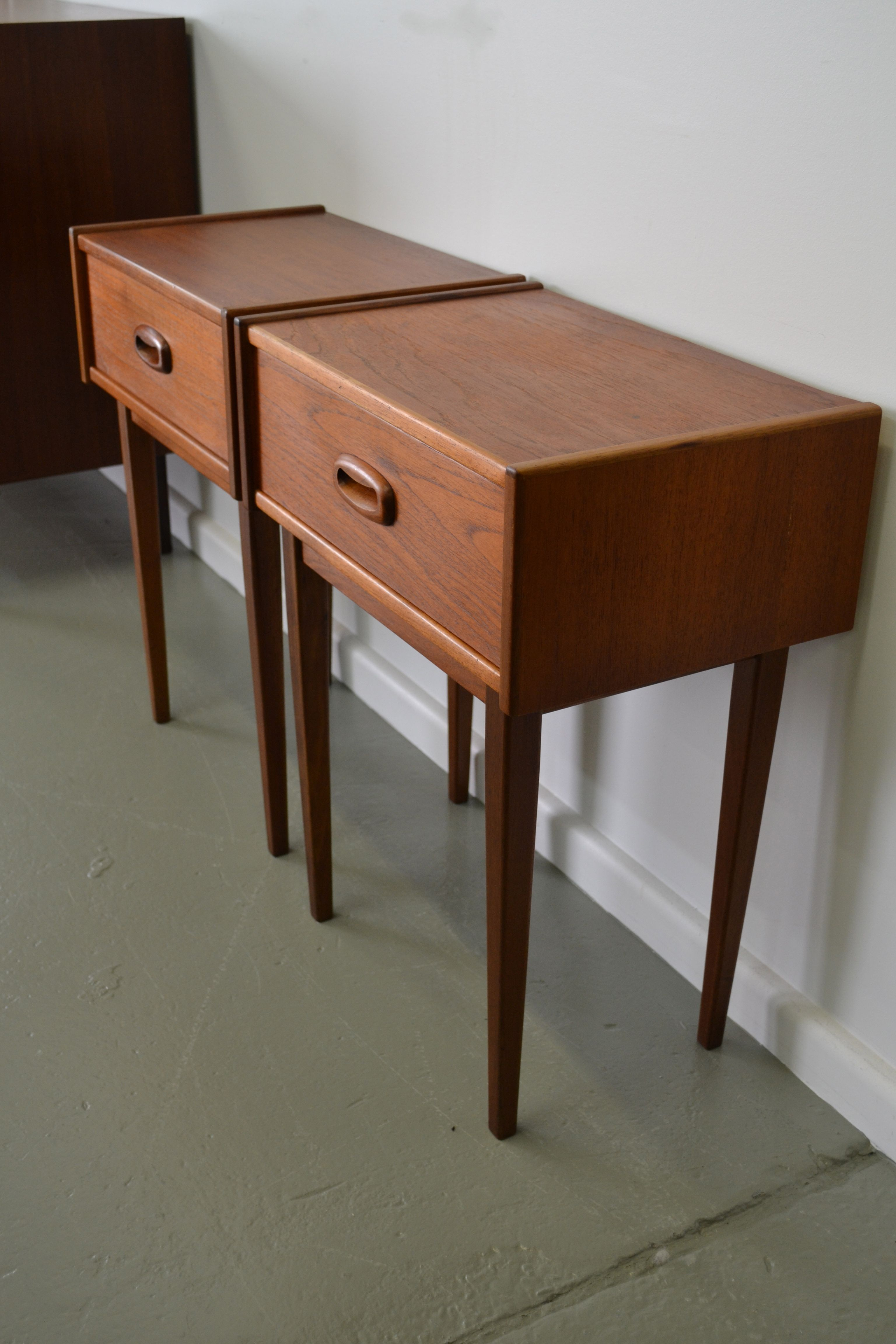 Bedside Tables Modern Australian Parker Teak 60 39s Bedside Tables Refurbished By