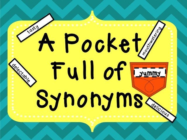 Synonym Word Wall! A pocket full of synonyms. Replace those overused ...