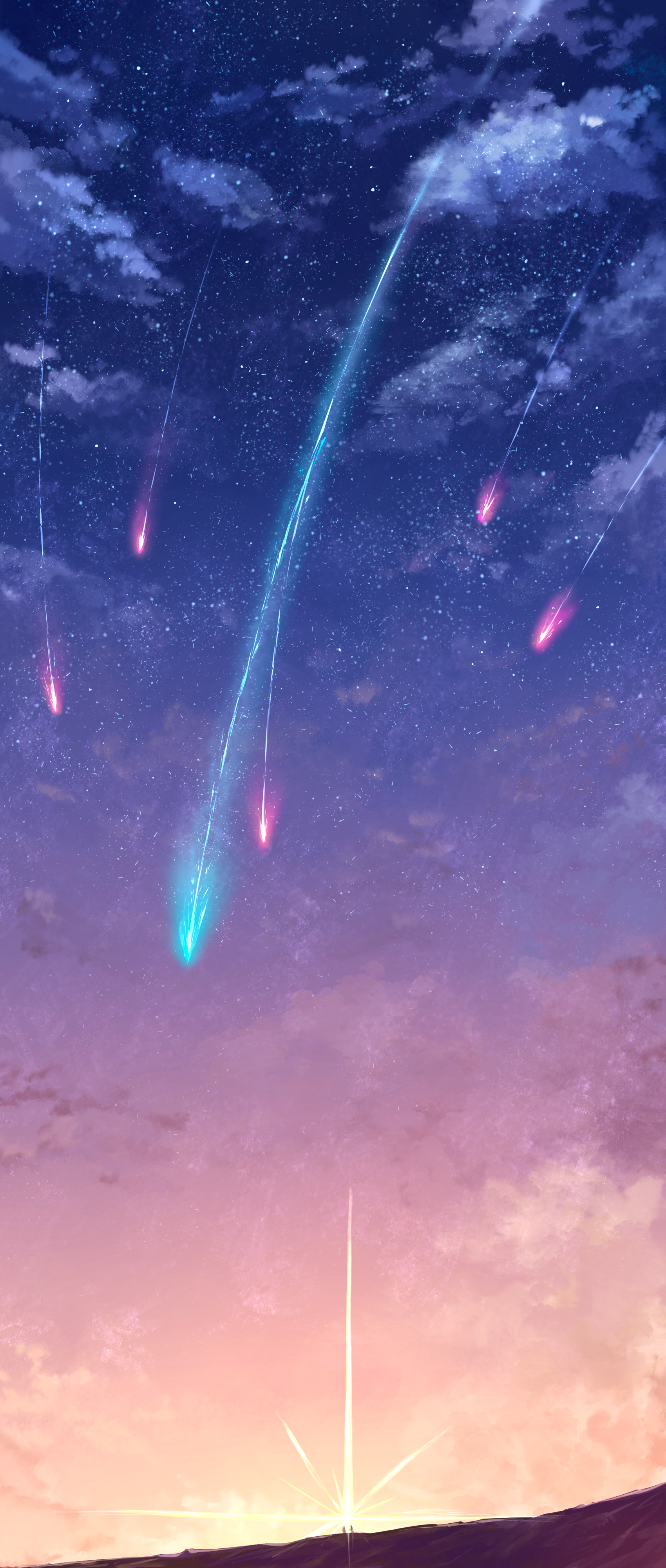 """Omg this looks like art for the movie """"Your Name"""" Your"""