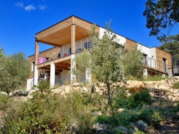 Une terrasse XXL suspendue au-dessus de la garrigue - cout d une terrasse en bois