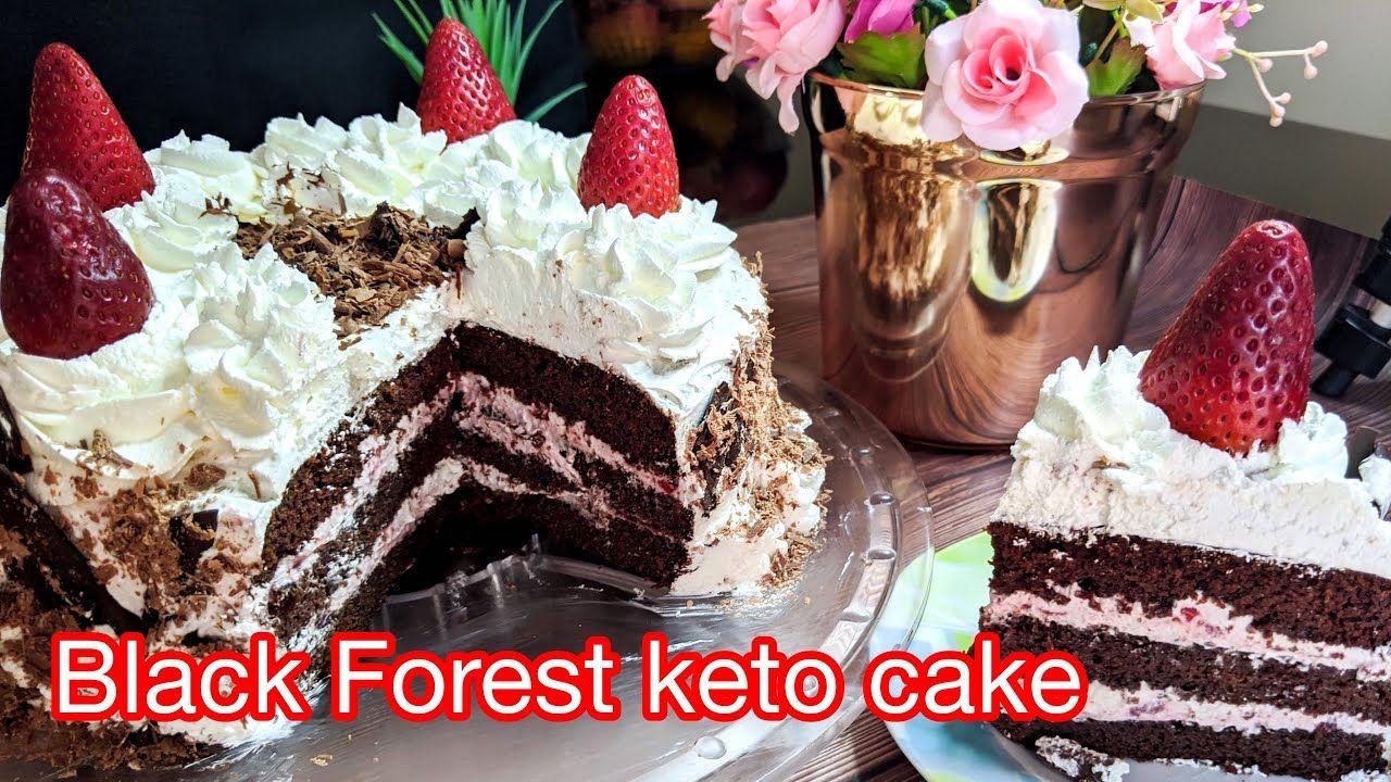 Black Forest Keto Cake Diet Kitchen تورتة البلاك فورست كيتو الهشه جدا و Keto Cake Desserts Food