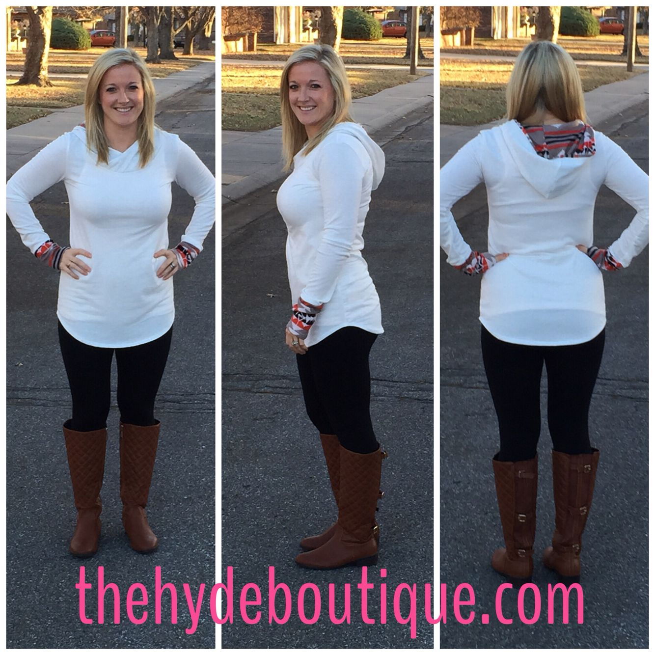 """Let It Snow"" Tunic with a hood!!!"