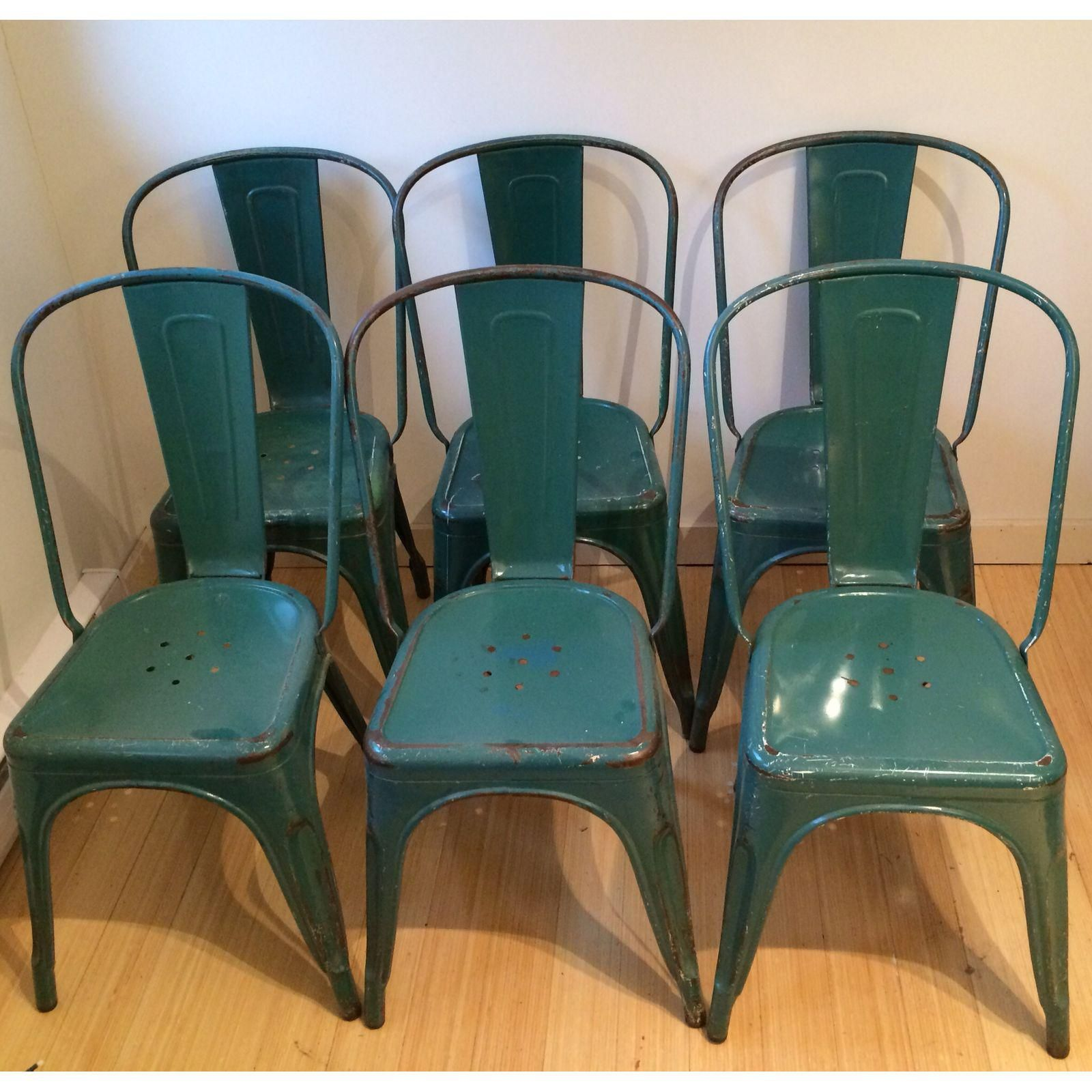 Image Of Vintage Tolix French Cafe Chairs   6