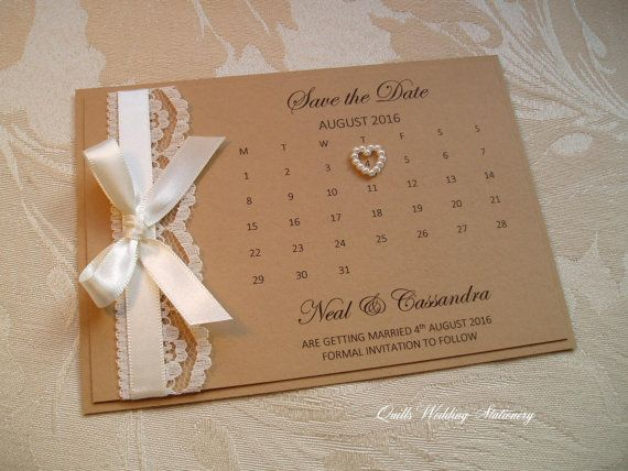 Country Style u0027Save the Dateu0027 Card with by QuillsWeddingFavours - formal invitation style