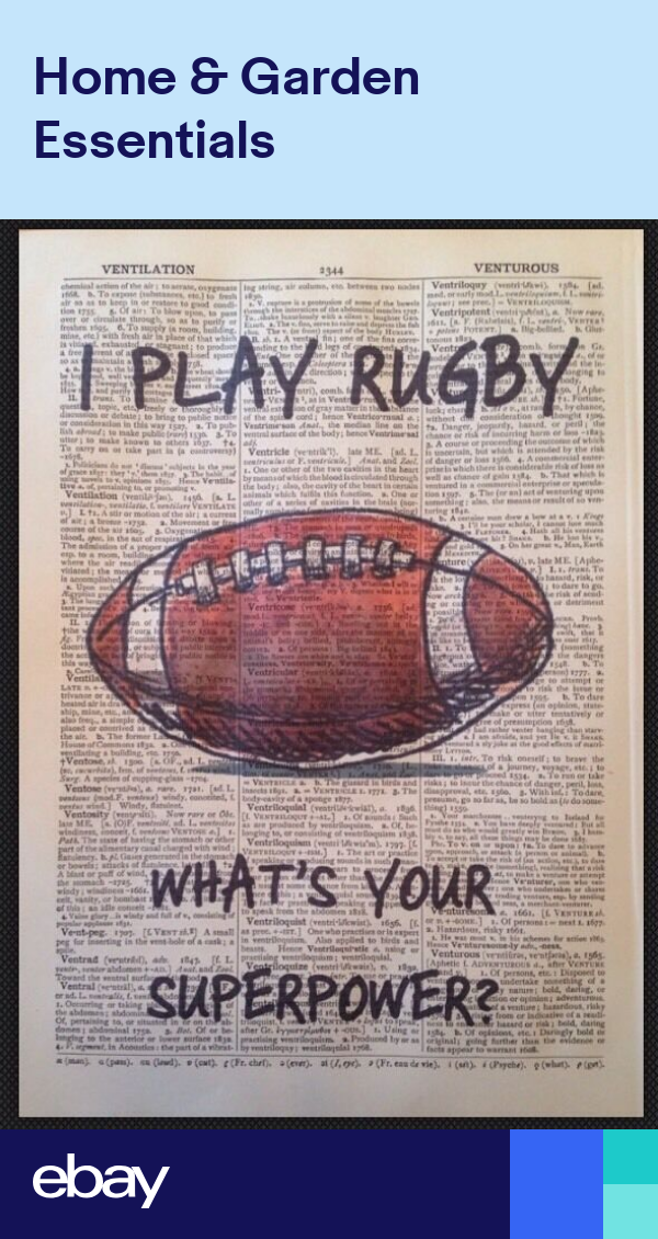 Vintage Rugby Quote Print 1933 Dictionary Page Wall Art Picture Gift Sport Rugby Quotes Rugby Pictures Picture Gifts