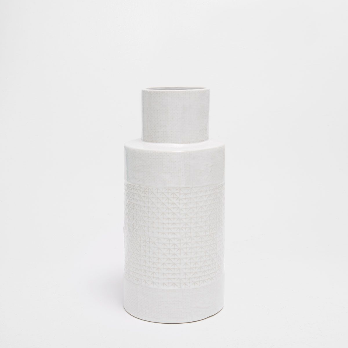 Image 1 of the product SHINY CERAMIC VASE WITH A RAISED DESIGN