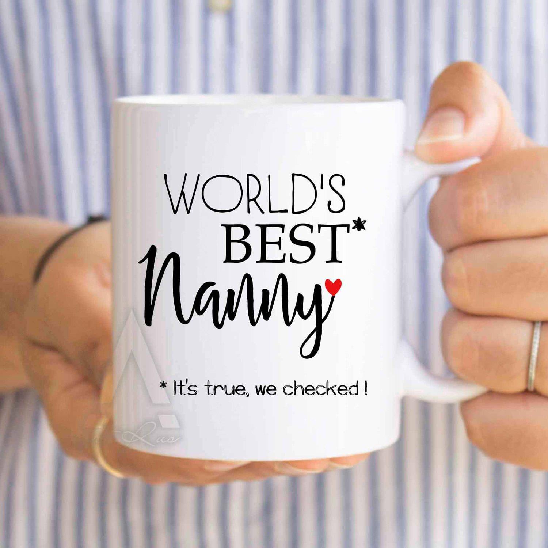 Birthday Gift For Nanny Worlds Best Mothers Day Gifts Mug Grandma New Pregnancy MU579 By ArtRuss On Etsy