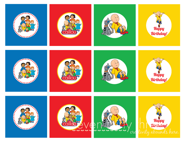 A Boy Who S Three With Images Caillou Birthday Party
