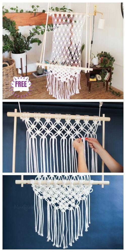 DIY Macrame Hammock Chair Swing Tutorial  Video is part of Macrame hammock - DIY Macrame Hammock Chair Swing Tutorial  Video