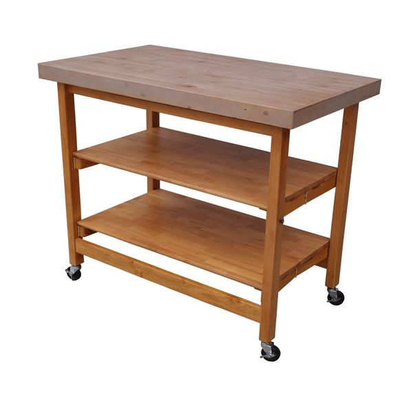 Oasis Concepts Extra Large Textured Folding Kitchen Island ...