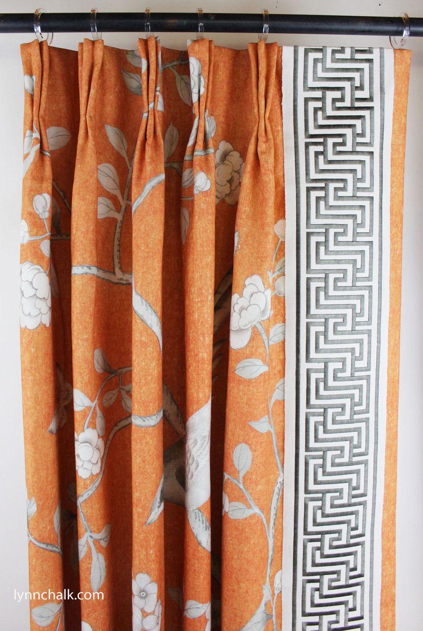 schumacher mary mcdonald chinois palais drapes in tangerine with rh pinterest com