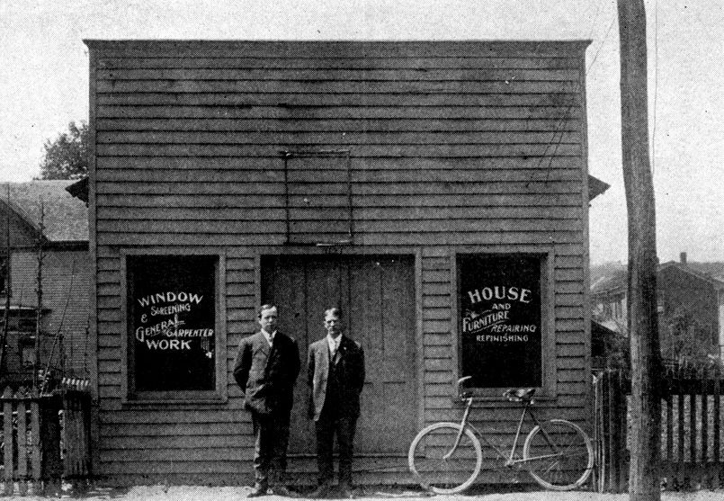 1121 Washington St E, 1907. Later was site of car