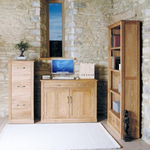 mobel solid oak hidden home office office desk baumhaus space shape 3