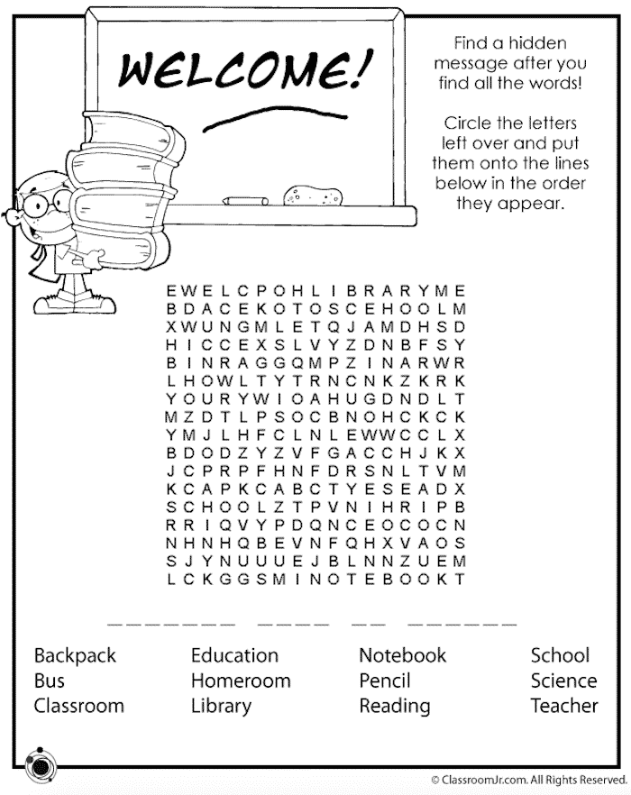 7 Free Printable Back To School Word Searches Crafting Back To