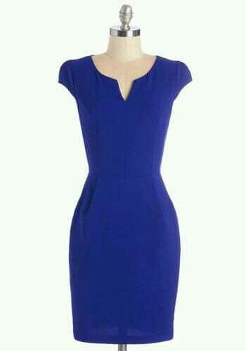 dd76224256 Vestido tubinho azul Royal