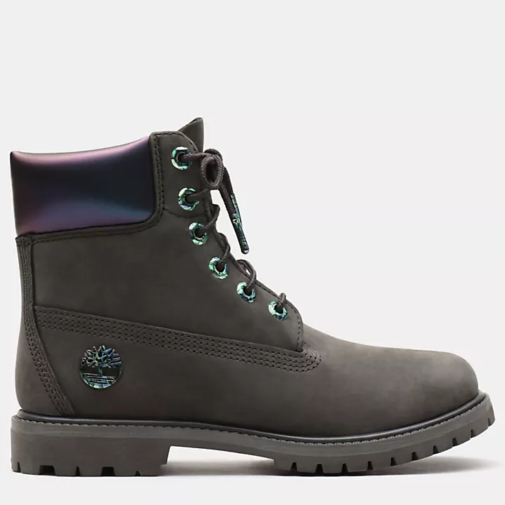 6 Inch Iridescent Premium Boot For Women In Black Timberland Skor