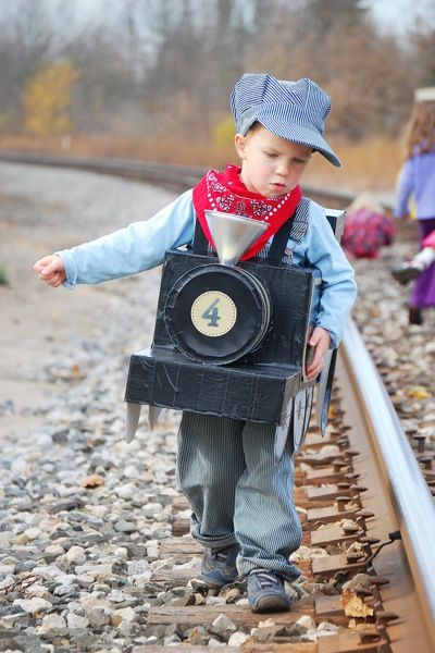 kids halloween costume ideas that are unbelievable here comes the most adorable train conductor - Unique Boy Halloween Costume Ideas